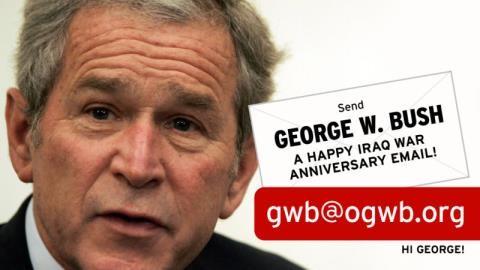 Tổng thống Mỹ George W. Bush, người đã phớt lờ những báo cáo của CIA về Saddam Hussein.