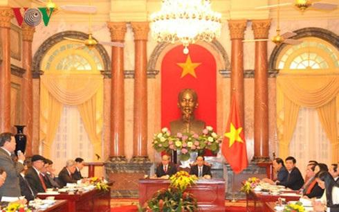 Hội nghị tổng kết công tác phối hợp giữa Chủ tịch nước và Ủy ban Trung ương MTTQ Việt Nam