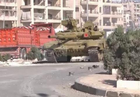 Tăng T-90A tại Syria.