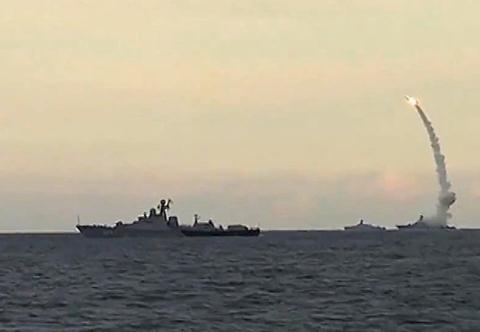 Nga tấn công khủng bố bằng tên lửa hành trình Thần chết Kalibr.