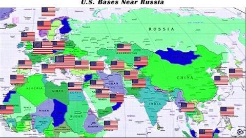 Các căn cứ quân sự Mỹ-NATO đang phủ kín thế giới, đặc biệt là vây quanh Nga