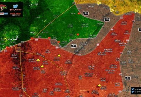 Chiến trường phía Đông thành phố Aleppo tính đến ngày 27/2