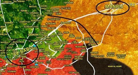 Người Kurd nhường Quân đội Syria các làng phía Đông-Đông Bắc al-Bab để làm vùng đệm ngăn Thổ Nhĩ Kỳ