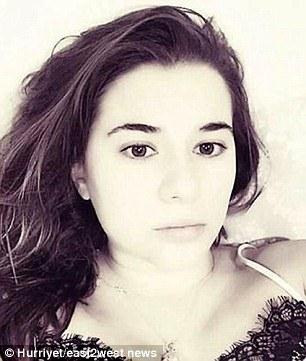 Nữ công dân Nga Ekaterina B bị bắt vì có liên hệ với hung thủ ám sát Đại sứ Nga tại Thổ Nhĩ Kỳ. Ảnh: Daily Mail.