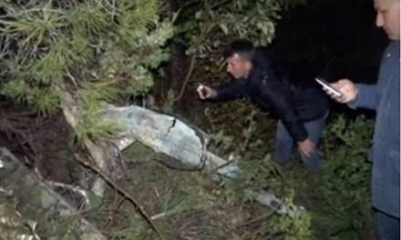 Hiện trường chiếc máy bay Mig-23 bị bắn rơi