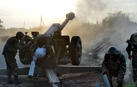 Quân đội Ukraine triển khai chiến đấu ở miền Đông. Ảnh: censor.net.ua.