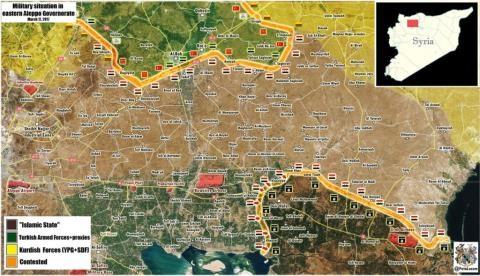 Bản đồ chiến sự thị trấn Deir Hafer