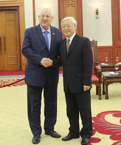 Tổng Bí thư Nguyễn Phú Trọng và Tổng thống Israel Reuven Rivlin