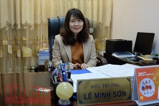 Hiệu trưởng trường Tiểu học Tràng An Lê Minh Sơn.