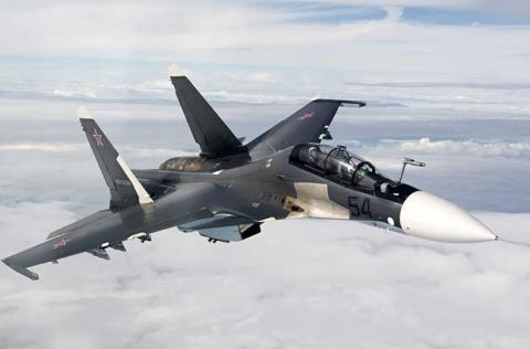 Su-30SM, máy bay hai chỗ ngồi lần đầu tiên sử dụng để tiêu diệt các mục tiêu trên mặt đất bằng tên lửa 80mm S-8.