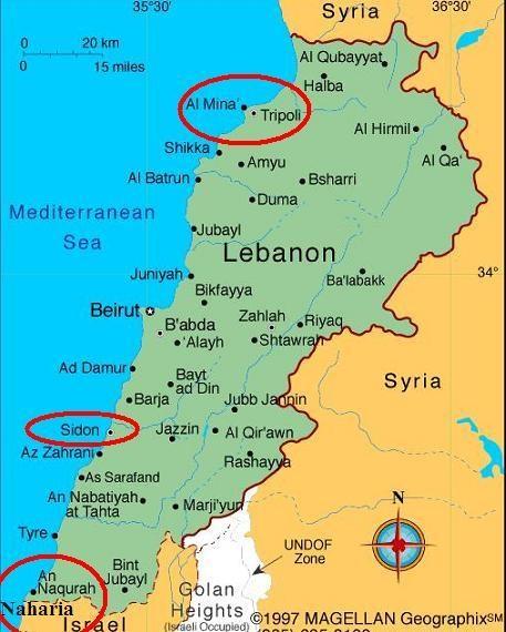 IS muốn lấy 2 thành phố ven Địa Trung Hải là Tripoli và Sidon của Lebanon làm căn cứ chính