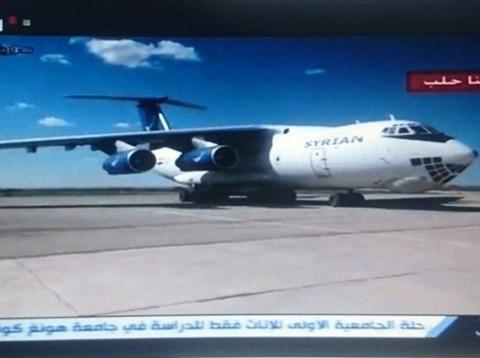 Máy bay Syria hạ cánh tại căn cứ Kuweiris, ngày 25-3-2017