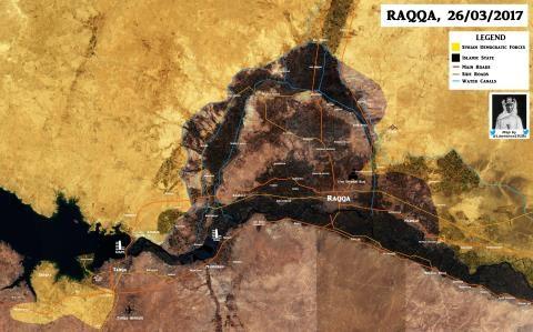 Bản đồ chiến sự Raqqa ngày 26/3