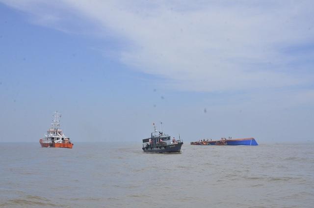 Một vụ chìm tàu trên biển Cần Giờ.
