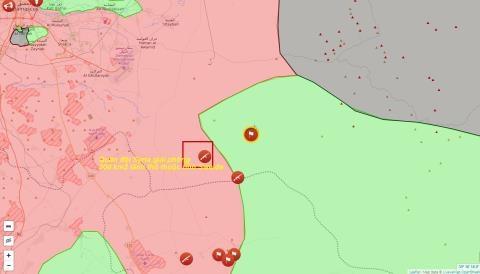 Vị trí địa lý khu vực lãnh thổ quân đội Syria vừa giải phóng trên địa bàn tỉnh Sweida