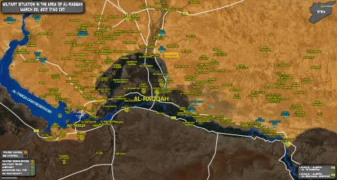 Bản đồ chiến sự tại Raqqa
