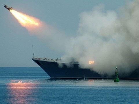 Hải quân Nga phóng tên lửa vào các thành trì của phiến quân ở Lattakia - 1