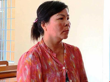 Nguyễn Thị Kiều (ngụ Vĩnh Long), người liên tục có bầu, sinh con để né án tù mà Pháp Luật TP.HCM có bài phản ánh. Ảnh: HỒNG NAM