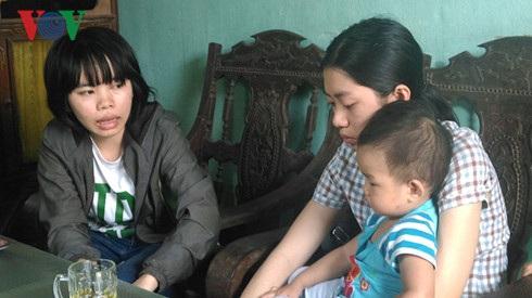 Ba chị em Sáng ở lại quê hương Hà Tĩnh.