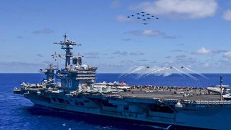 Hàng không mẫu hạm Carl Vinson của Mỹ còn cách bán đảo Triều Tiên hàng nghìn km.