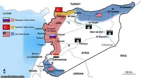 Syria hiện chỉ kiểm soát dải đồng bằng phía Tây, giáp Địa Trung Hải
