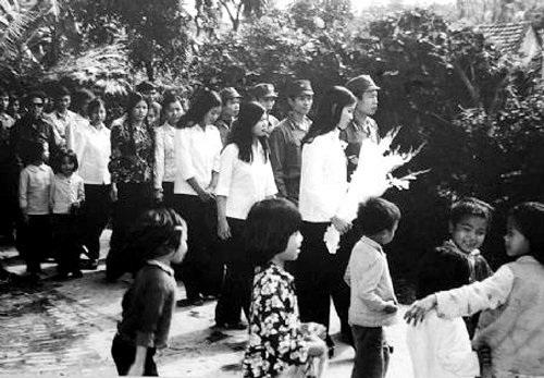 Một hình ảnh đám cưới xưa. Ảnh tư liệu