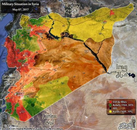 Bản đồ Syria ngày 7/5