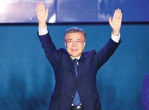 Tân Tổng thống Hàn Quốc Moon Jae-in. (Nguồn: Yonhap)