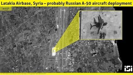 Hình ảnh vệ tinh cho thấy chiếc A-50U của Nga tại Syria