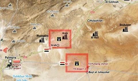 Quân đội Syria đang nỗ lực chiếm sân bay T3, tiến sang phía đông để ngăn chặn Mỹ-Anh hậu thuẫn cho FSA đánh lên Deir Ezzor