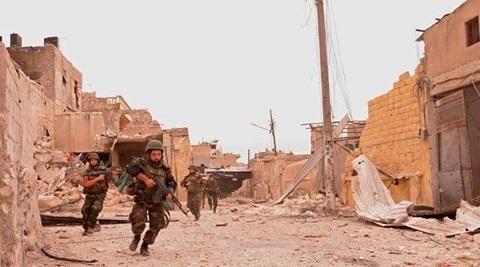 Quân đội Syria đã phá vỡ tuyến phòng thủ của tổ chức Nhà nước Hồi giáo tự xưng (IS) ở đông Aleppo