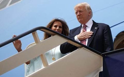 Tổng thống Mỹ Donald Trump và Phu nhân tới Israel (Ảnh: AP)