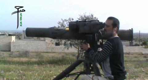 Tên lửa chống tăng TOW tại Syria.