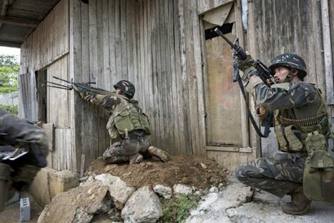 Đặc nhiệm Philippines đã khống chế nhiều khu vực ở Marawi. Ảnh: Toronto Star.
