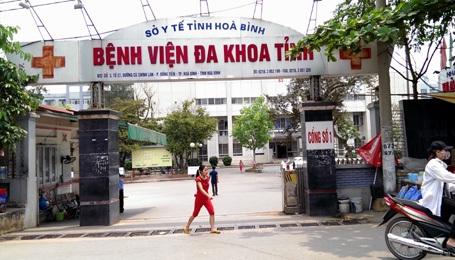 BVĐK tỉnh Hòa Bình, nơi vừa xảy ra vụ nghi sốc phản vệ khi chạy thận.