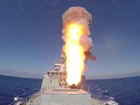 Tàu Đô đốc Essen phóng tên lửa hành trình tấn công IS tại Syria