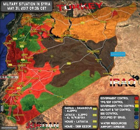 Bản đồ Syria ngày 31/5