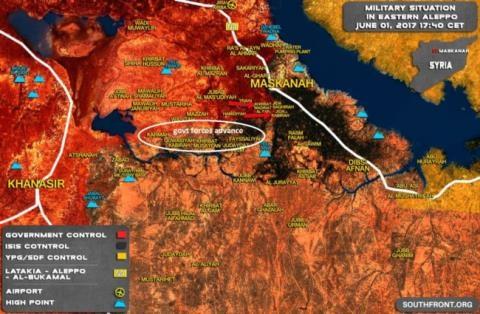 Lực lượng Tiger tấn công bao vây thị trấn Maskanah phía đông Aleppo