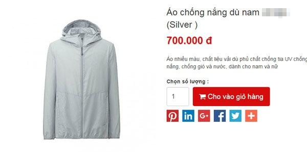 Áo chống nóng hàng Nhật đắt hàng