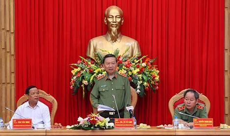 Bộ trưởng Tô Lâm phát biểu tại buổi tọa đàm.