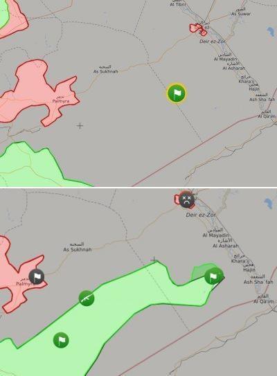 Từ khi Mỹ đổ quân vào miền Nam Syria, FSA đã có bước tiến rất nhanh so với SAA