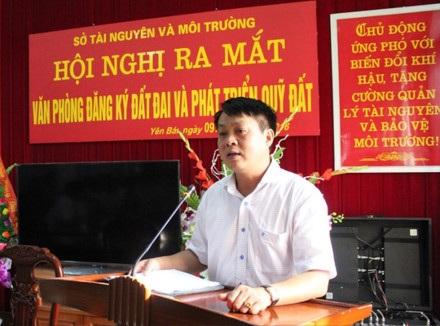 Ông Phạm Sỹ Quý - Giám đốc Sở TN-MT tỉnh Yên Bái. Ảnh: TNMT.
