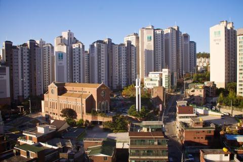 Khu vực quận Seongbuk-gu, phía Bắc thành phố Seoul.