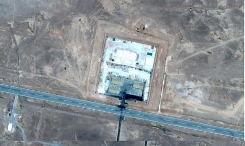 Hình ảnh chụp từ vệ tinh căn cứ không quân bí mật thứ 2 của Mỹ ở Jordan gần Syria. (Ảnh: livejournal.com)