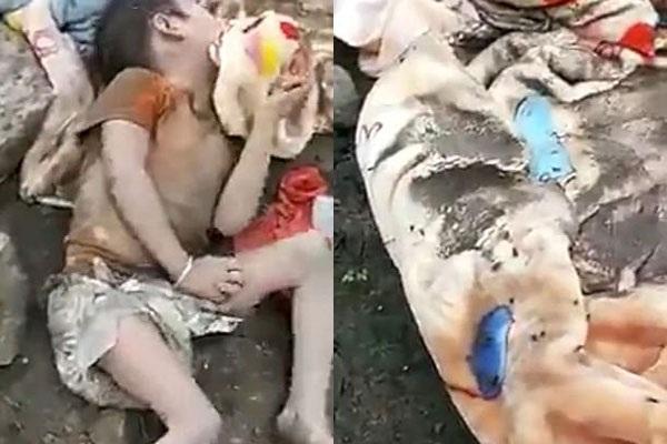 Hình ảnh thương tâm của cô bé bên cạnh đống rác.