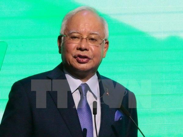 Thủ tướng Malaysia Najib Razak tại một diễn đàn bên lề Hội nghị thượng đỉnh ASEAN lần thứ 30 tại Manila ngày 28/4. (Nguồn: EPA/TTXVN)