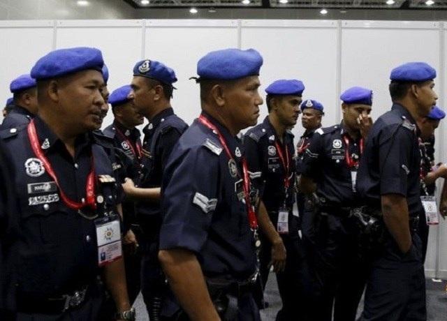 Lực lượng cảnh sát Malaysia. (Nguồn: The Chronicle)