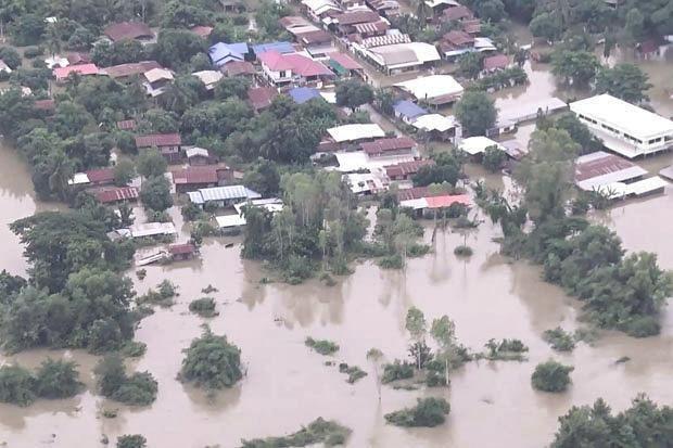 Cảnh ngập lụt ở tỉnh Sakon Nakhon. (Nguồn: bangkokpost.com)