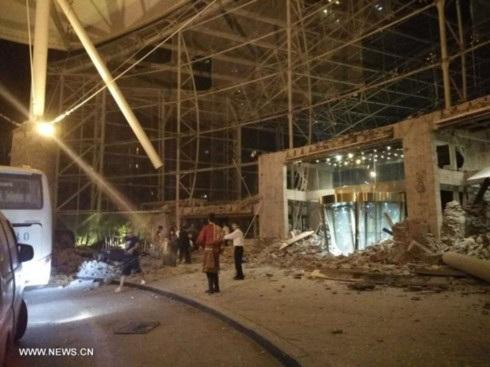 Hậu quả động đất ở Tứ Xuyên.