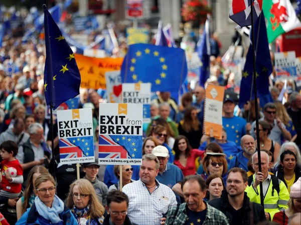 Người dân biểu tình phản đối Brexit ở London. (Nguồn: Reuters)